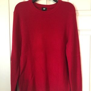 H&M Bright Red Crewneck Sweater